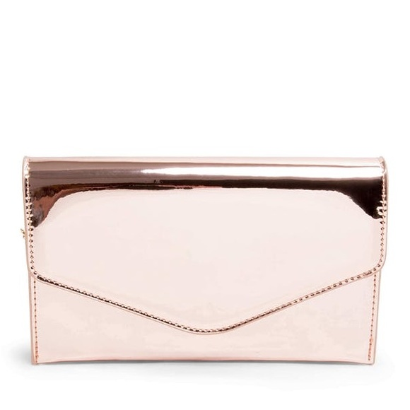 fa27a68156 Steve Madden Bags | Nwot Global Clutch Rose Gold | Poshmark